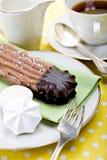 Biscuits et meringue Image libre de droits