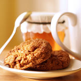 Biscuits et miel Image libre de droits