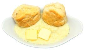 Biscuits et poussières abrasives de petit déjeuner de pays Photographie stock