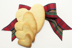 Biscuits et proue de tartan Photo stock