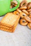 Biscuits et séchage Photo libre de droits