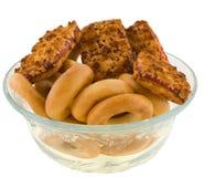 Biscuits et sec dans un vase Photo stock