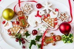 Biscuits et sucreries de pain d'épice Images libres de droits