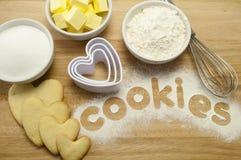 Biscuits et traitement au four photos libres de droits