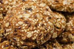 Biscuits faits à partir des flocons d'avoine oatmeal images stock