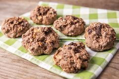 Biscuits faits main d'avoine photos libres de droits