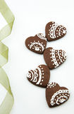 Biscuits faits main de chocolat Image stock