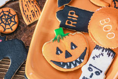 Biscuits faits main de Halloween Images stock