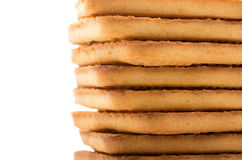 Biscuits faits maison carrés Images stock