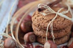 Biscuits faits maison d'avoine Image stock