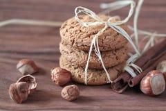 Biscuits faits maison d'avoine Photographie stock