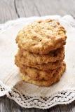 Biscuits faits maison d'avoine photographie stock libre de droits