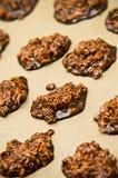 Biscuits faits maison de chocolat Photographie stock