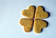 Biscuits faits maison de coeur Image libre de droits