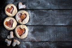 Biscuits faits maison de gelée Photos libres de droits