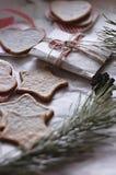 Biscuits faits maison de gingembre Photographie stock