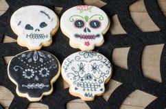 Biscuits faits maison de Halloween Photos stock