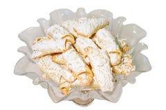 Biscuits faits maison de klaxon de beurre Image libre de droits