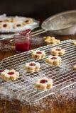 Biscuits faits maison de Linzer Photo stock