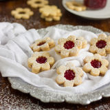 Biscuits faits maison de Linzer Photo libre de droits