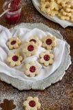 Biscuits faits maison de Linzer Image libre de droits