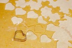Biscuits faits maison de Noël Images libres de droits