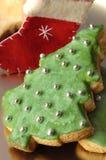 Biscuits faits maison de Noël Photo stock