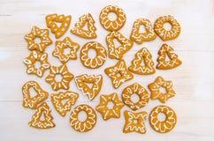 Biscuits faits maison de Noël Image stock