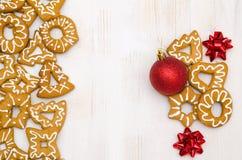 Biscuits faits maison de Noël Photographie stock