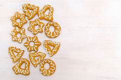 Biscuits faits maison de Noël Photos libres de droits