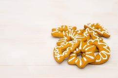 Biscuits faits maison de Noël Photos stock