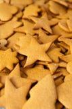 Biscuits faits maison de Noël de pain d'épice images libres de droits