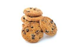 Biscuits faits maison de pâtisserie de chocolat Photographie stock libre de droits