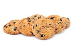 Biscuits faits maison de pâtisserie de chocolat Images libres de droits