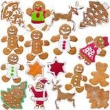 Biscuits faits maison de pain d'épice Photos libres de droits