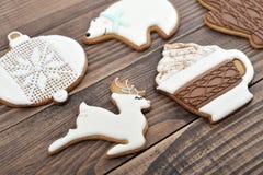Biscuits faits maison de pain d'épice Image libre de droits