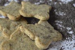 Biscuits faits maison de pavot Photographie stock libre de droits