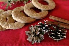 Biscuits faits maison de vacances Images libres de droits