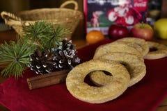 Biscuits faits maison de vacances Photo libre de droits