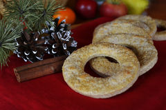 Biscuits faits maison de vacances Photographie stock libre de droits