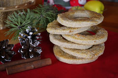 Biscuits faits maison de vacances Photos libres de droits