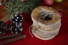Biscuits faits maison de vacances Images stock
