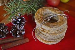 Biscuits faits maison de vacances Image stock