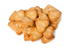 Biscuits in form of heart Royalty Free Stock Photography