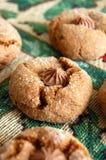 Biscuits fraîchement cuits au four de Gingersnap Photo libre de droits