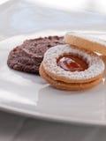 Biscuits frais cuits au four Images stock