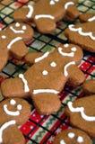 Biscuits frais cuits au four de pain d'épice Images stock