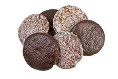 Biscuits frais cuits au four de pain d'épice photographie stock libre de droits