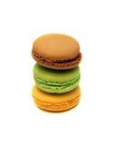 Biscuits français de macaron de dessert Images libres de droits