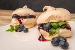 Biscuits français de meringue photo libre de droits